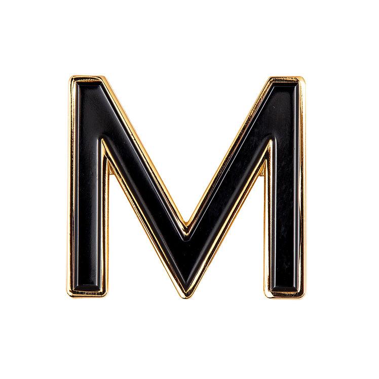 Enamel Letter M Pin