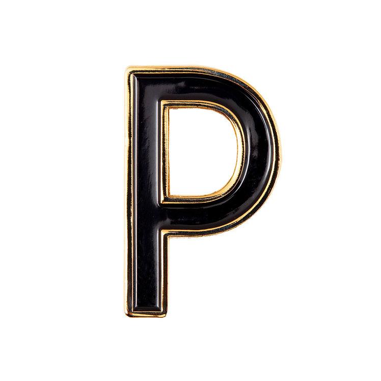 Enamel Letter P Pin