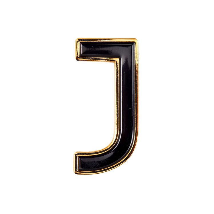 Enamel Letter J Pin