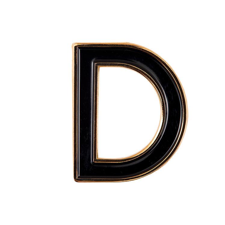 Enamel Letter D Pin