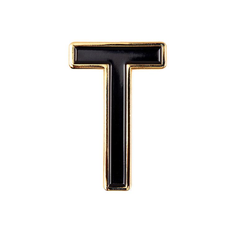 Enamel Letter T Pin