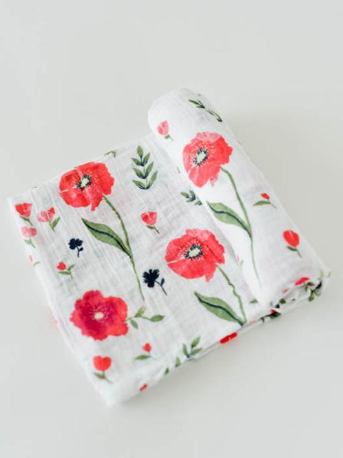 Cotton Muslin Swaddle - Summer Poppy