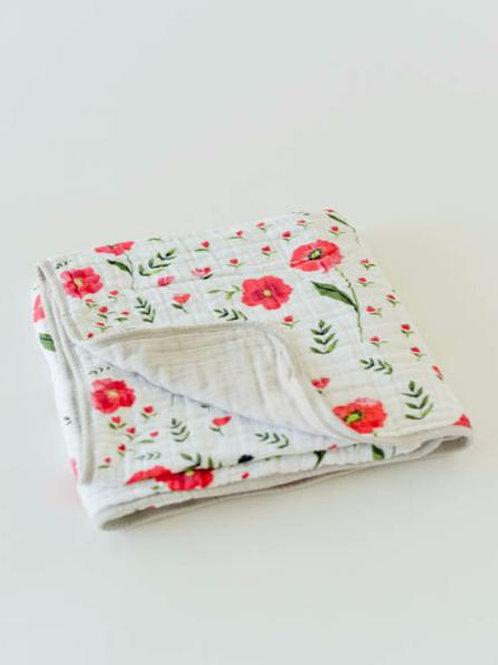 Cotton Muslin Quilt - Summer Poppy