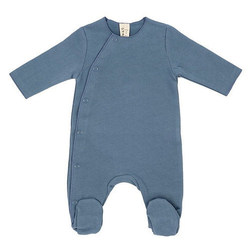 Baby Suit with Snaps - Denim