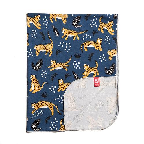 Organic Jersey Cotton Blanket - Wildcats on Navy