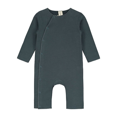 Baby Suit with Snaps - Blue Gray
