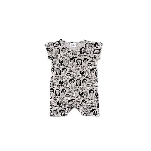 Shorts Romper - Light Gray
