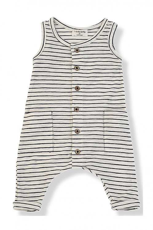 One More in the Family - Mondrian Jumpsuit - Blue Notte