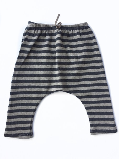 Sammy Striped Baggy Pant - Anthracite