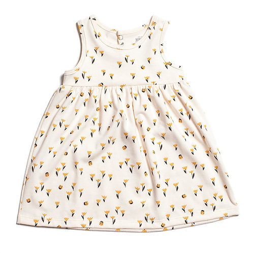 Oslo Baby Dress - Yellow Tulips