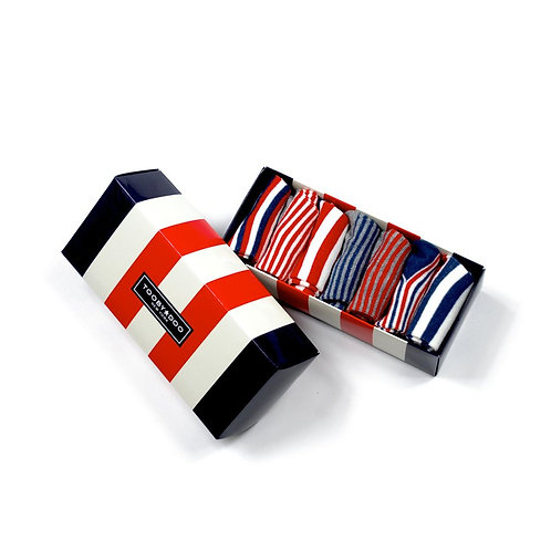 Tooby Socks - Red White Blue Stripes