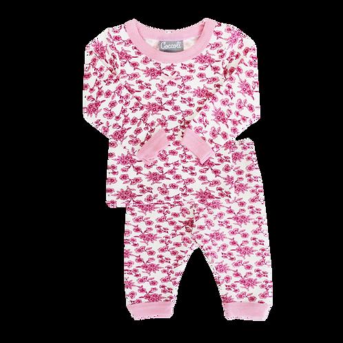 Pajama Set - Pink Flowers