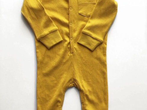 Union Suit - Ribbed Mustard