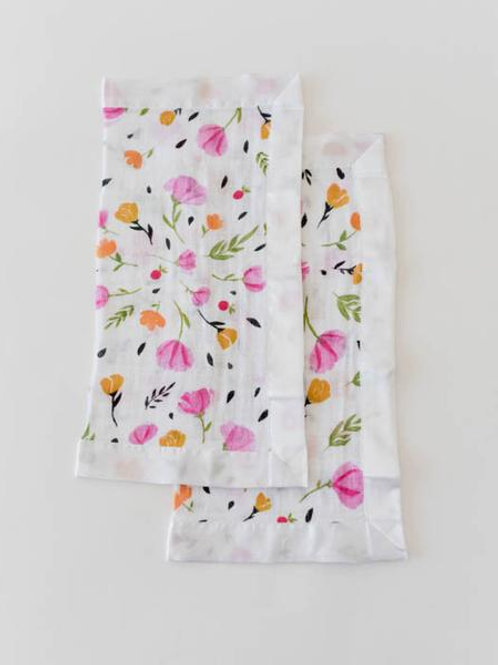 Cotton Muslin Security Blanket 2 Pack - Berry & Bloom
