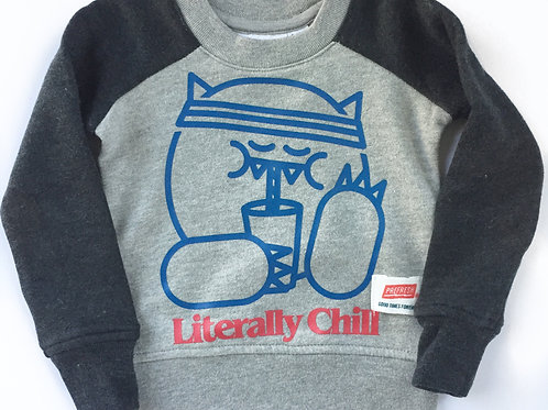 Literally Chill Fleece Sweatshirt - Heather Grey