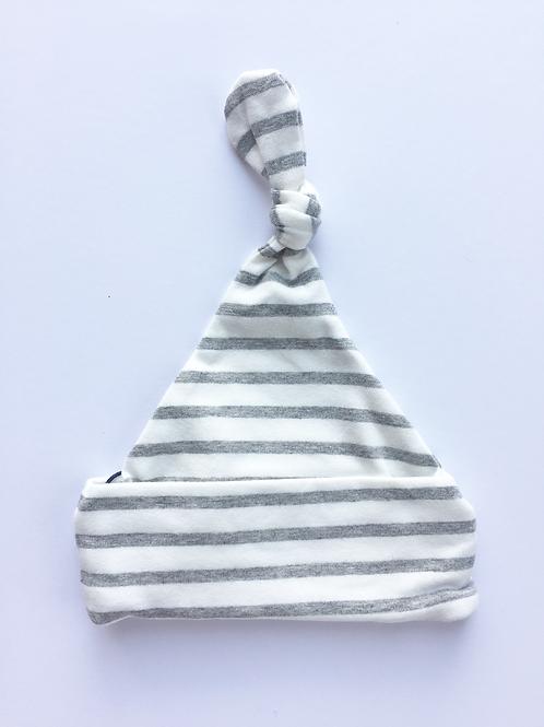 Grey & White Stripe Beanie