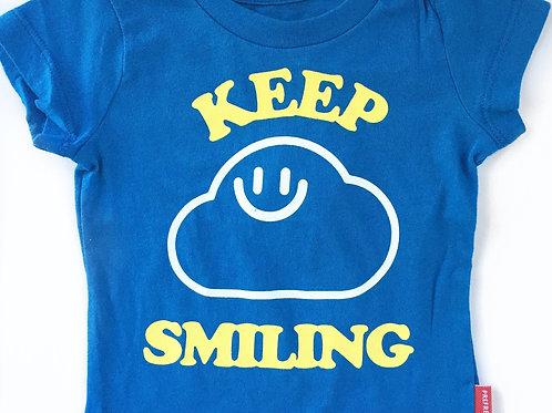 Keep Smiling Tee - Royal Blue