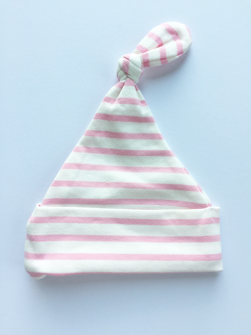 Pink & White Stripe Beanie