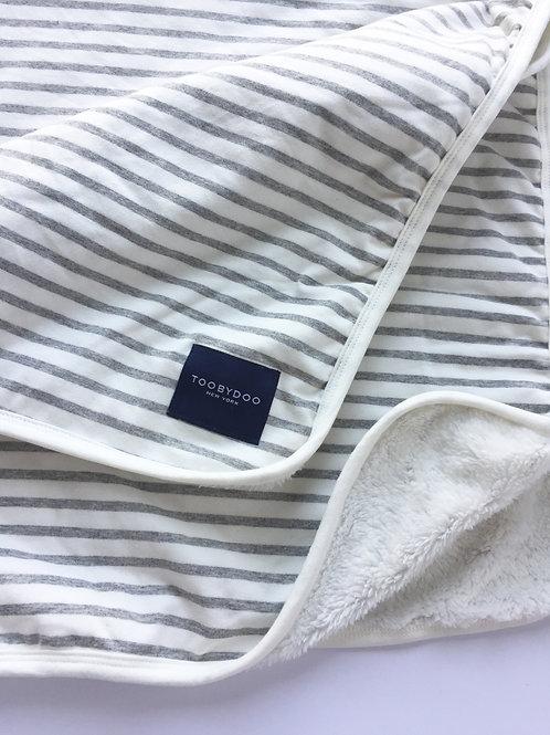 Grey & White Stripe Baby Blanket