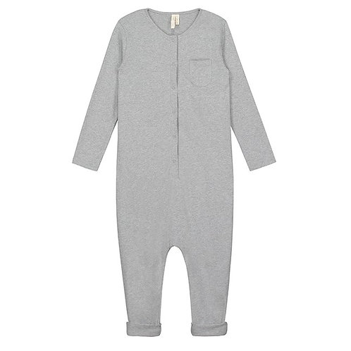 LS Playsuit - Grey Melange