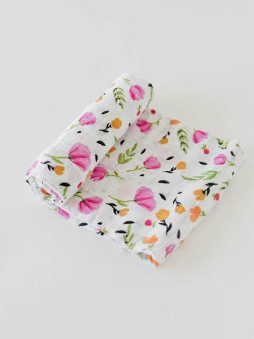 Cotton Muslin Swaddle - Berry & Bloom