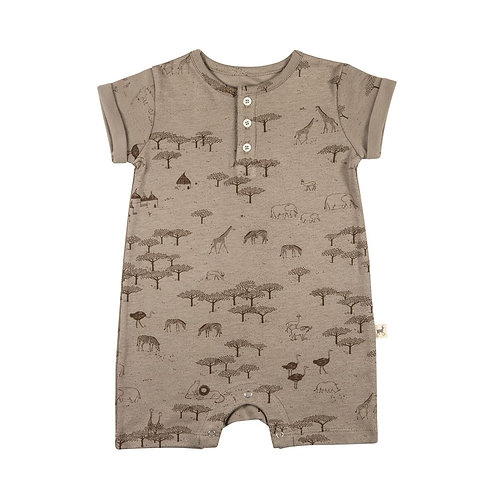 Short Sleeved Jumpsuit - The Serengeti