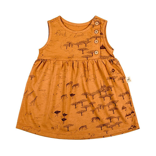 Buttoned Dress - The Serengeti