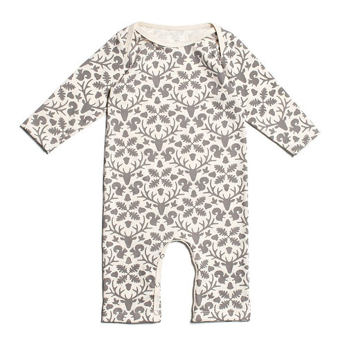Long Sleeved Romper - Animal Kingdom Grey