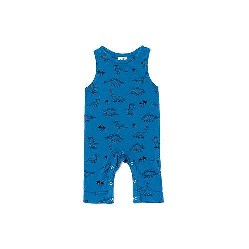 Sleeveless Jumpsuit - Steel Blue