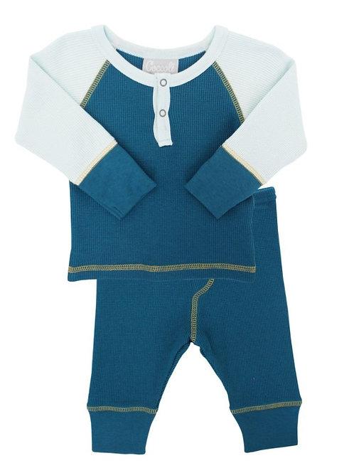 Pajama Set - Teal/Blue Mist