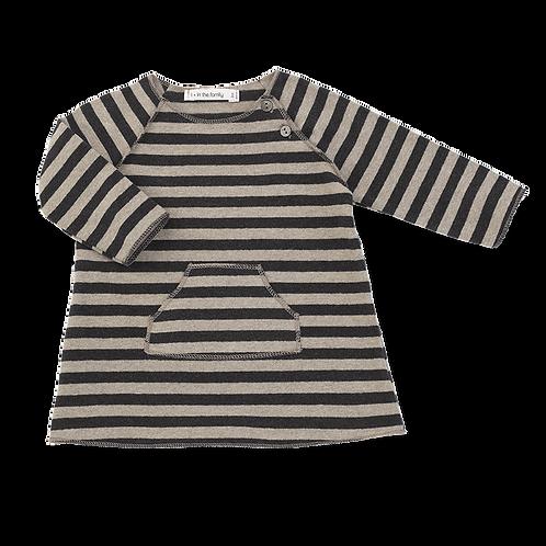 Pati Striped Dress - Anthracite