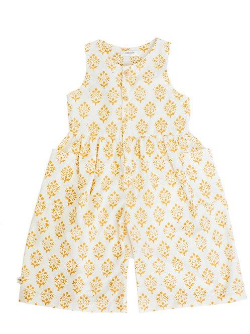 Crop Jumpsuit in Marigold