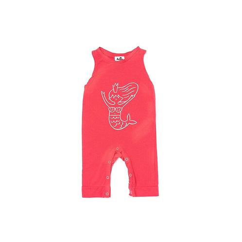 Sleeveless Jumpsuit - Coral