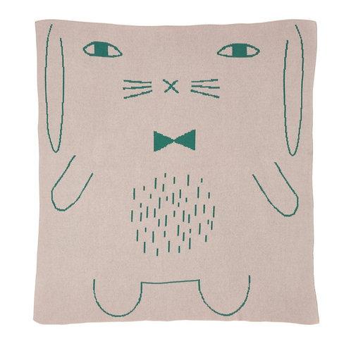 Rabbit Cotton Mini Blanket