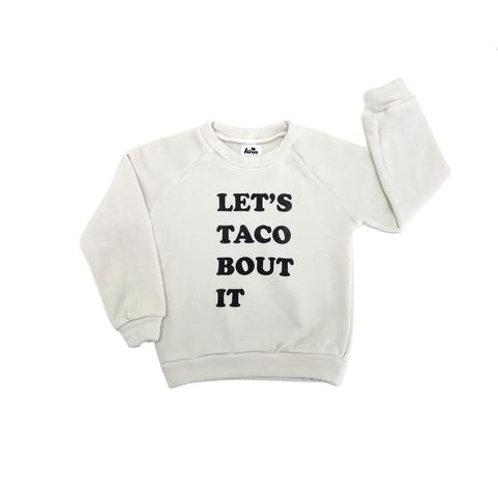 Raglan Sweatshirt - Taco Bout It - Cream
