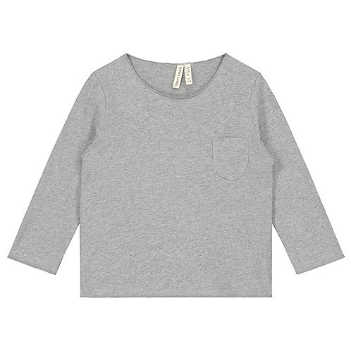 LS Pocket Tee - Grey Melange