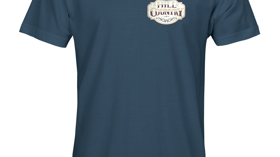 Whiskey Label Tee - Blue