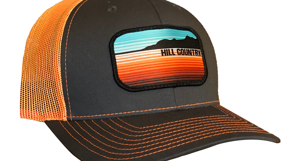 Hillside Snapback Gray/Orange
