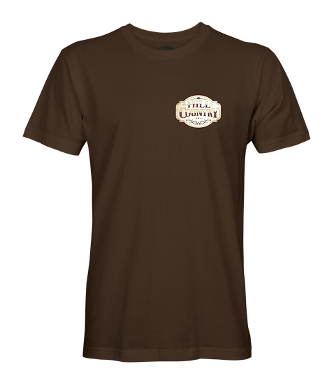 Whiskey Label Tee - Chocolate