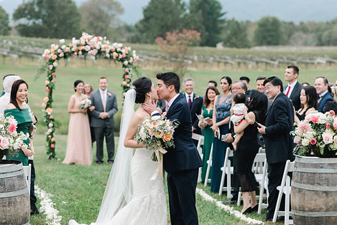 Veritas Winery and Vineyard Wedding Fall