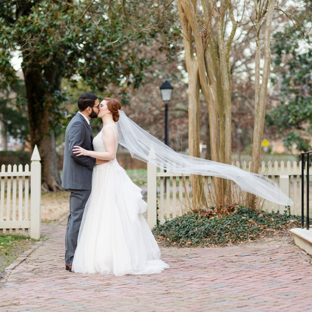 Lauren & Kyle's Winter Wedding in Williamsburg