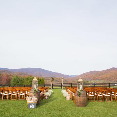Amber & Spencer's Autumn Veteran's day Wedding at Montfair Resort Farm