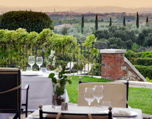 Borgo Scopeto Relais vineyards and Siena, Siena Vagliagli; Tuscany region