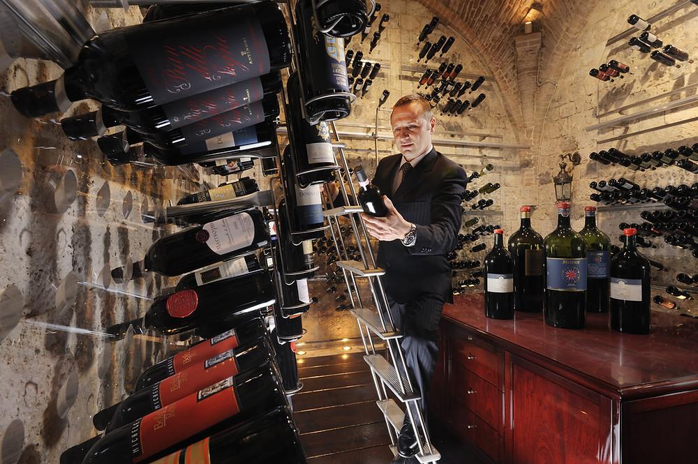 Italian Wine Cellar Grand Hotel Continental, Siena, Italy