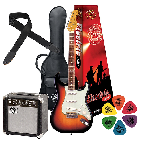 SX Electric Guitar & Amp Package