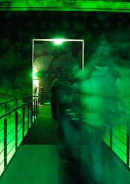 """""""Kokerei grün"""" Raum- und Klanginstallation Kokerei Zollverein mit Thomas Köner Essen, 2004"""