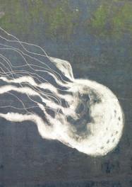 """""""Unterwasser"""" Malerei mit dem Hochdruckreiniger zur  Inszenierung """"Fontana Kanale"""" in der Schleuse Herne Ost, 2011"""