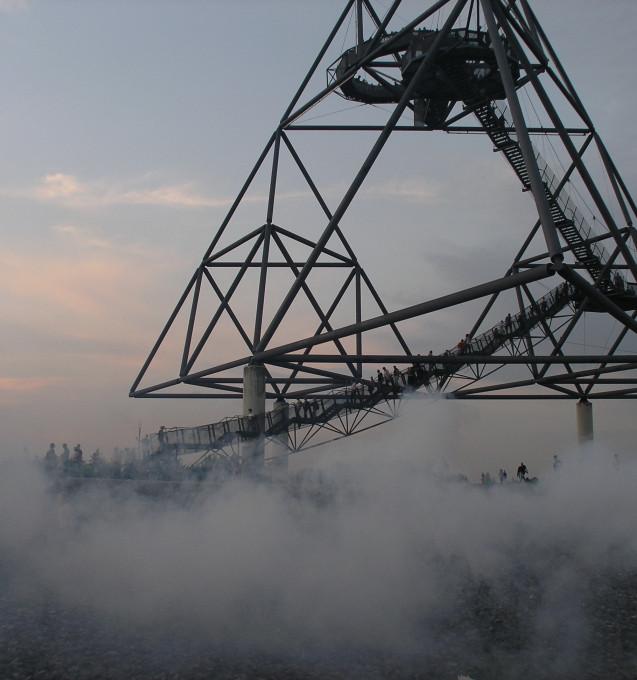 """Vulkan"" Installation der Halde Beckstraße, Bottrop 2008"