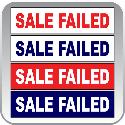 Sale Failed