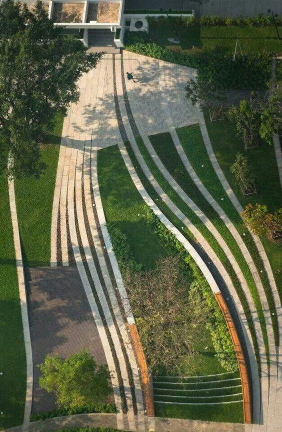 Ландшафтный дизайн. Плавные линии планировки